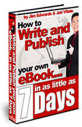 Write an ebook in 7 days